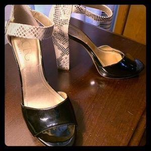 BCBG patent/python heels